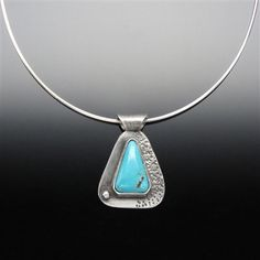 'Healer' Bisbee Turquoise and Sterling Silver Pendant Turquoise is considered to be a symbol of generosity, sincerity, and affection. www.vivantedesigns.com