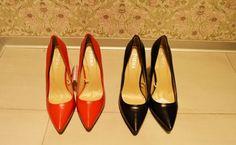 Varianta comodă a pantofilor: stiletto cu toc gros