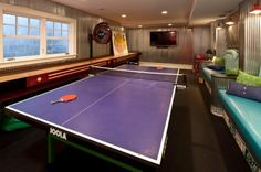 Indoor ping pong game room ideas via czmcam.com