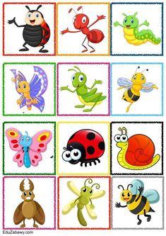 Znaczki przedszkolne – Owady Preschool Centers, Preschool Learning Activities, Spring Activities, Preschool Activities, Teaching Kids, Kids Learning, Zoo Preschool, Card Games For Kids, Art For Kids