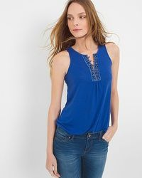 Embroidered Romantic Tank