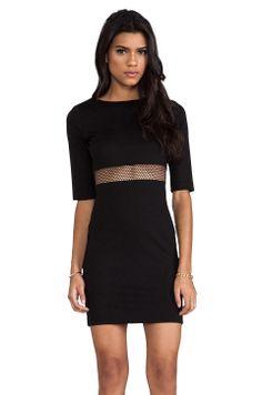 Amanda Uprichard Mesh Sheath Dress in Black from REVOLVEclothing