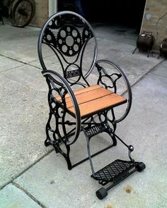 Old sewing machine...chair