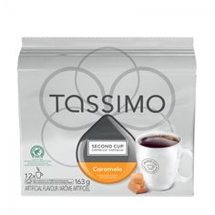Second Cup Caramelo, T-Discs for Tassimo Hot Beverage System Count) Single Serve Coffee, Dark Roast, Instant Coffee, Coffee Cafe, Home Brewing, Keurig, Hot Chocolate, Nespresso, Toffee