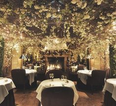 TO DO : Have a dinner in Clos Maggiore, voted the most romantic restaurant in London. I've been meaning to go there ever since I viewed this picture. I hope that this will become one of my London moments . Maybe in my next trip to London ♥ Romantic Places, Most Romantic, Beautiful Places, Restaurant Paris, Restaurant Design, Restaurant Ideas, Forest Restaurant, Luxury Restaurant, Restaurant Lighting