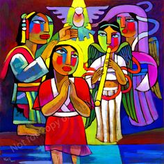 """Baptism of Jesus"" by He Qi"