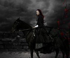 Night ride.  Appreciate gothic art now
