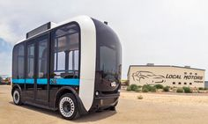 Arizona-based startup Local Motors has created a 3D-printed, self-driving bus called Olli, capable of carrying twelve people and designed to serve as an on-demand transportation option.