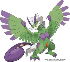 Tornadus Therian Forme by Xous54.deviantart.com on @deviantART      - My favourite pokemon and I love his work. :)