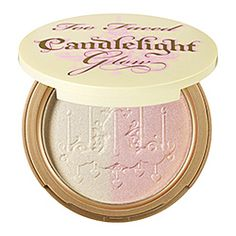 Too Faced - Candlelight Glow Highlighting Powder Duo.  I use this at night.  This is really different but effective and really cool.  Buy more than one, it's almost like the pearl of Bare Minerals