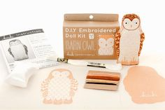 Image of Barn Owl D.I.Y. Embroidered Doll Kit