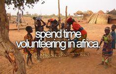 Sped time volunteering in Africa