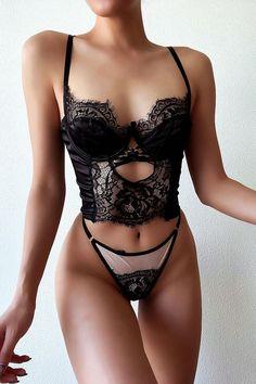 Jolie Lingerie, Bra Lingerie, Women Lingerie, Lingerie Sleepwear, Lace Bustier, Black Bralette, When You Love Somebody, Gorgeous Lingerie, Swimsuits For Curves