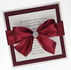 Boxed  Wedding Invitations Couture    Sample set by JESAMPLES