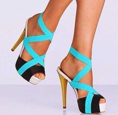 Nice blue heels. For you mama!!!