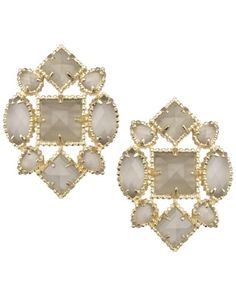 Virginia Stud Earrings in Slate - Kendra Scott Jewelry. Fall 2013 #ModernTreasures Collection, available July 24th.