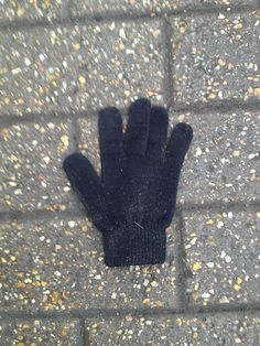 Simple black glove