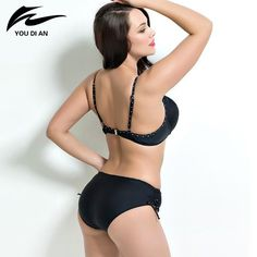 9464e24d4b1dc Fat wear plus size bikini set Bathing Suit Push up bikinis women Large Cup  Bikini set Women Swimwear Sexy plus size Swimsuit