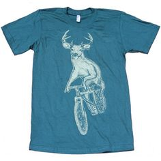 Deer On A Bike Men's Tee Forest now featured on Fab.