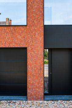 Brick Cladding, Brick Facade, Brickwork, Modern Brick House, Brick Detail, Village House Design, Brick Architecture, Building Facade, Facade Design