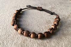 Men's 8mm Wood Bead Bracelet by GThingZ on Etsy