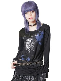 CDJapan : DETECT EYE Shirring Long Sleeve Cutsew (S) SA84859-10114 SEX POT ReVeNGE APPAREL. See more at: http://www.cdjapan.co.jp/apparel/ #punk #jrock #mensfashion