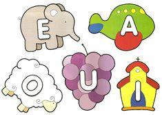 Vogais coloridas para imprimir! - ESPAÇO EDUCAR