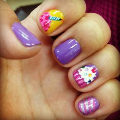 29 Ideas For Birthday Nails Art Daughters Birthday Nail Art, Birthday Party For Teens, Little Girl Birthday, Happy Birthday, Nails For Kids, Girls Nails, Little Girl Nails, Girls Nail Designs, Nail Mania