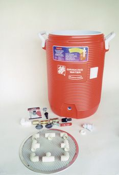 Easy DIY to make a Mash Tun for brewing