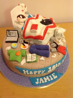 Teenage messy bedroom cake