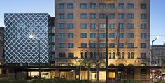 Top Recommended Hotels finds Mayfair Hotel Adelaide deals on all the top travel stites at once. Best Price Guaranteed on Mayfair Hotel Adelaide at Top Recommended Hotels. Adelaide Hotels, Unique Hotels, Luxury Accommodation, Beautiful Lines, Western Australia, Places To Visit, Exterior, Architecture, City