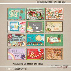 Printables Lunch Box Notes  by Amy Stoffel  Thanks ♥