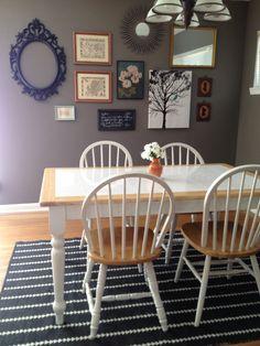 Dining room with Nate Berkus rug.