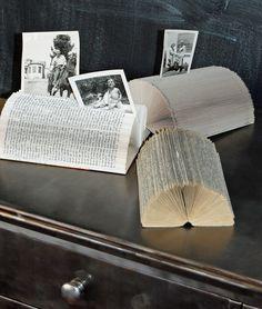 Repurposed Book Home Office Accessory. $9.00, via Etsy.