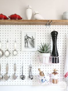 Pegboard Kitchen Storage | Inspired by Charm