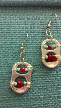 Pop Tab Earrings by PerrionCreations on Etsy, $6.00