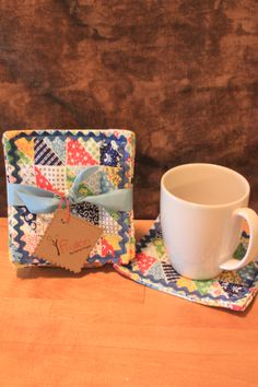 Vintage patchwork cloth coaster set by Fruitionbyjennifield, $10.00