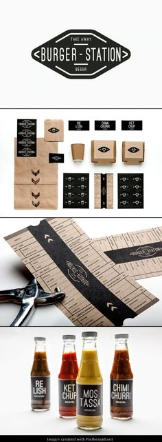 Burger Station | #stationary #corporate #design #corporatedesign #identity #branding #marketing < repinned by www.BlickeDeeler.de | Take a look at www.LogoGestaltung-Hamburg.de
