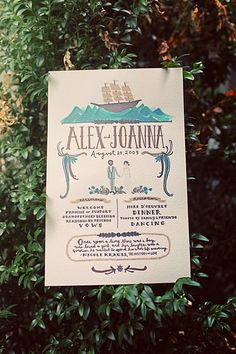 Joanna Goddard's gorgeous wedding program (from a Cup of Jo)
