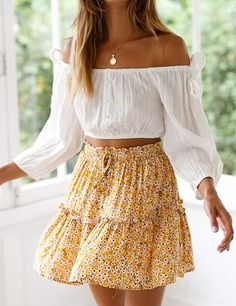 Summer Dress Outfits, Summer Skirts, Girly Outfits, Outfits For Teens, Casual Dresses For Women, Chic Outfits, Spring Outfits, Trendy Outfits, Fashion Outfits