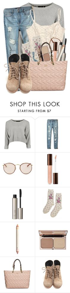 """Untitled #64"" by ltylerrr ❤ liked on Polyvore featuring Hollister Co., Ray-Ban, Ilia, Urban Outfitters, Charlotte Tilbury and Karl Lagerfeld"