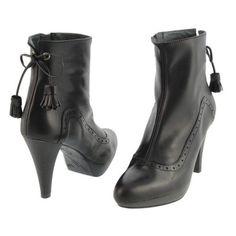 BOTINES PIEL NEGRA CON PICADOS Y LAZO  paulaalonso.es Booty, Ankle, Shoes, Fashion, Waterproof Boots, Shoes Heels Boots, Tall Boots, Types Of Shoes, Fur