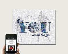 Say You Won't Let Go By James Arthur Inspired Song Art, First Paper Anniversary Gifts Him Husband, Wedding Anniversary Gift for Him, First Dance Song Lyric Print, Print Only Paper Anniversary, Anniversary Gifts For Him, James Arthur, First Dance Songs, Song Lyrics, Letting Go, Birthday Gifts, Let It Be, Inspired