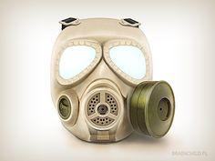 Gas mask by Rafał Urbański