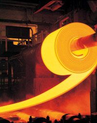 Steel production, © Getty images    Steel roll