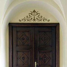 Renaissance Door Crown Classic Panel Stencils