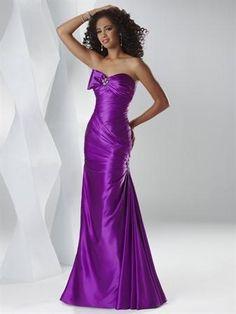 purple evening dresses | Purple Peony/Steel/Island Blue/Scarlet Beaded Sweetheart Prom Dresses ...