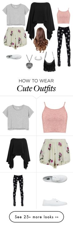 """Cute casual/comfortable first day of high school outfits"" by lexiahyo on Polyvore featuring MINKPINK, Monki, Donna Karan, Yves Saint Laurent, Boohoo, Gemma Redux and Vans"