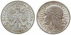 5 złotych, 1934, królowa Jadwiga