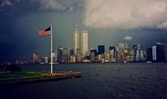 This is a haunting image of the World Trade Center during a dramatic storm. It was snapped on September 2001 World Trade Center, Trade Centre, Seattle Skyline, New York Skyline, Creepy, Foto Gif, The Last Summer, Summer Set, Tower Stand